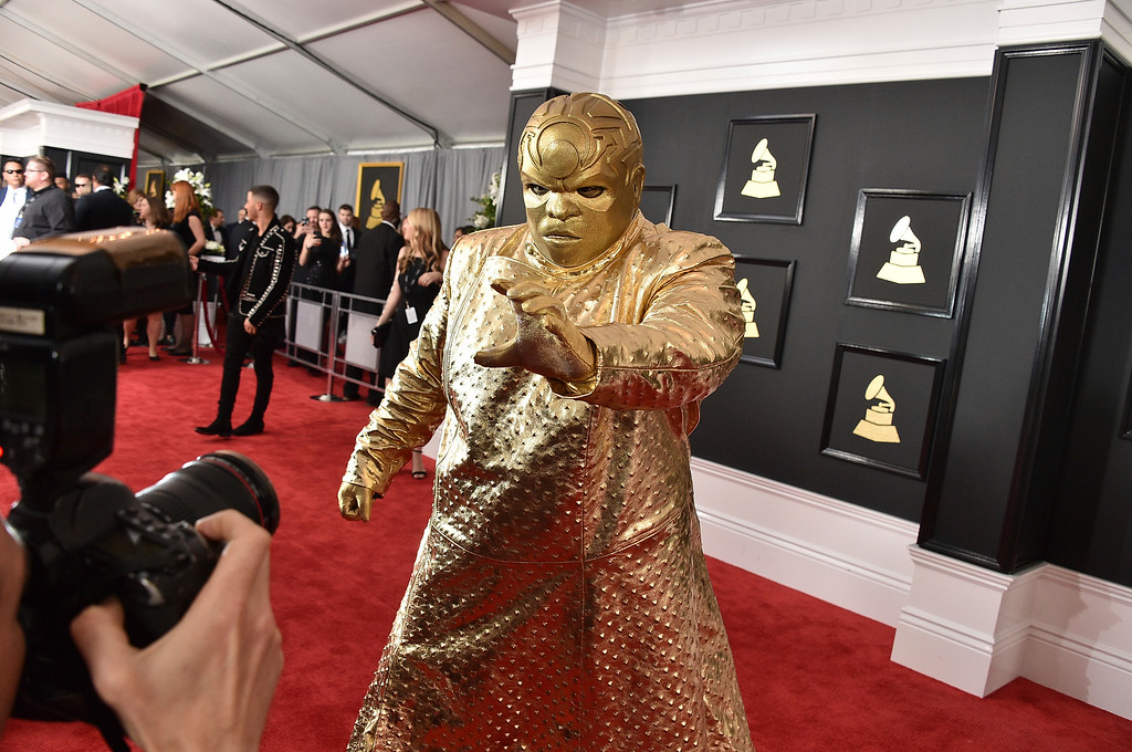 . CeeLo Green as Gnarly Davidson arrives at the 59th annual Grammy Awards at the Staples Center on Sunday, Feb. 12, 2017, in Los Angeles. (Photo by Jordan Strauss/Invision/AP)