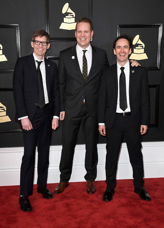 . LOS ANGELES, CA - FEBRUARY 12:  Music group Recess Monkey attend The 59th GRAMMY Awards at STAPLES Center on February 12, 2017 in Los Angeles, California.  (Photo by Frazer Harrison/Getty Images)