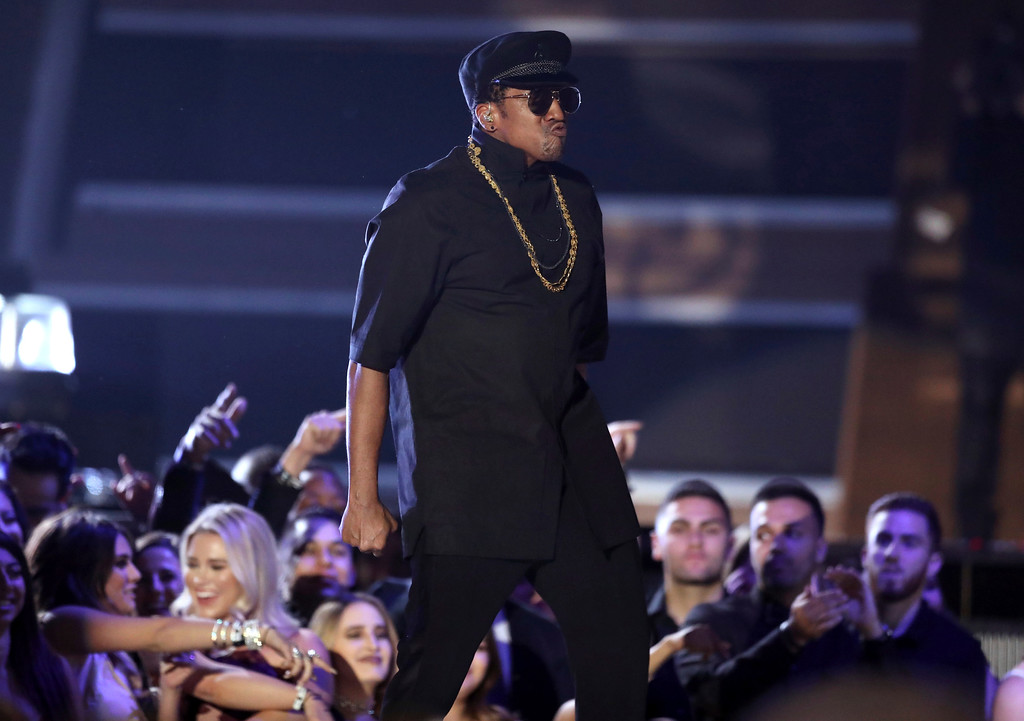 . Q-Tip, from A Tribe Called Quest, performs at the 59th annual Grammy Awards on Sunday, Feb. 12, 2017, in Los Angeles. (Photo by Matt Sayles/Invision/AP)
