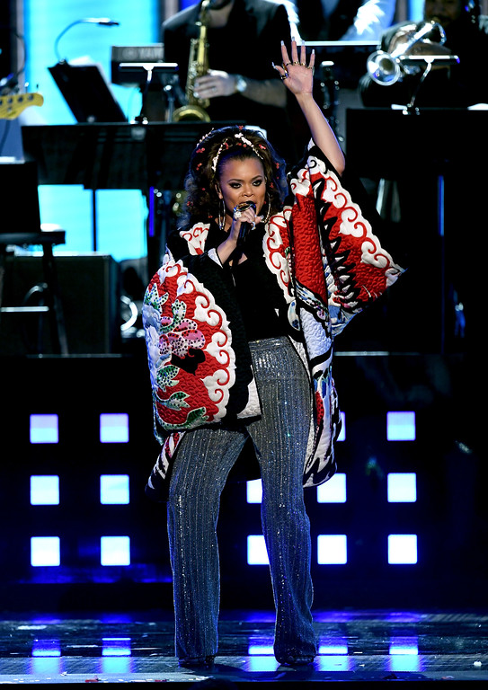 . LOS ANGELES, CA - FEBRUARY 12:  Recording artist Andra Day performs onstage during The 59th GRAMMY Awards at STAPLES Center on February 12, 2017 in Los Angeles, California.  (Photo by Kevin Winter/Getty Images for NARAS)