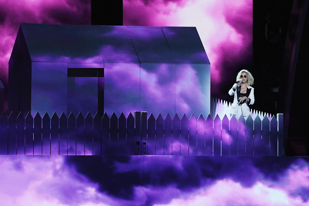 . LOS ANGELES, CA - FEBRUARY 12:  Recording artist Katy Perry performs onstage during The 59th GRAMMY Awards at STAPLES Center on February 12, 2017 in Los Angeles, California.  (Photo by Kevin Winter/Getty Images for NARAS)