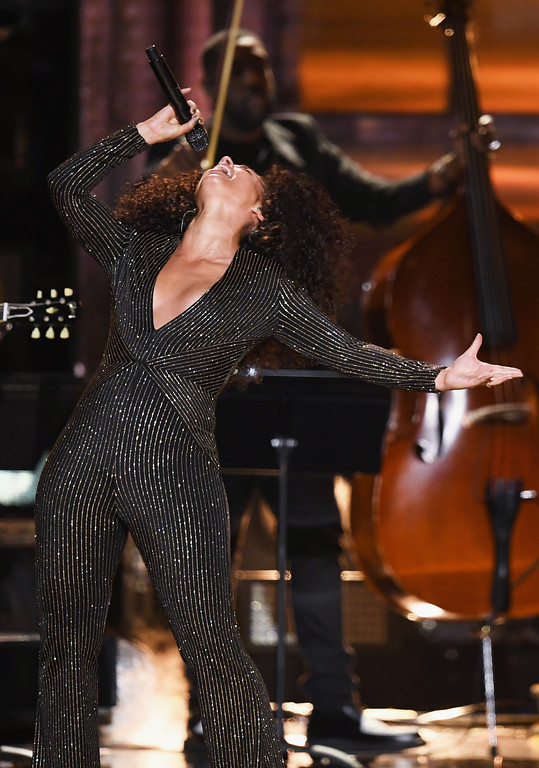 . LOS ANGELES, CA - FEBRUARY 12:  Recording artist Alicia Keys performs onstage during The 59th GRAMMY Awards at STAPLES Center on February 12, 2017 in Los Angeles, California.  (Photo by Kevin Winter/Getty Images for NARAS)