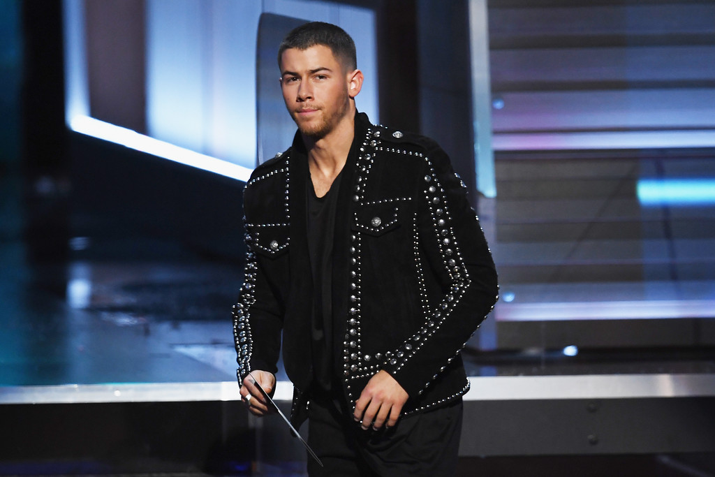 . LOS ANGELES, CA - FEBRUARY 12:  Recording artist Nick Jonas speaks onstage during The 59th GRAMMY Awards at STAPLES Center on February 12, 2017 in Los Angeles, California.  (Photo by Kevin Winter/Getty Images for NARAS)