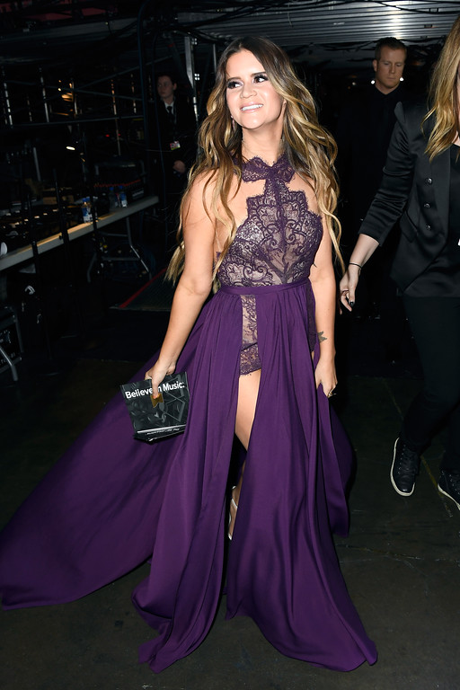 . LOS ANGELES, CA - FEBRUARY 12:  Singer Maren Morris attends The 59th GRAMMY Awards at STAPLES Center on February 12, 2017 in Los Angeles, California.  (Photo by Frazer Harrison/Getty Images for NARAS)
