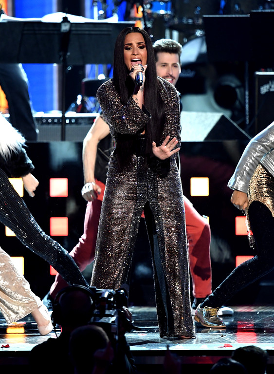 . LOS ANGELES, CA - FEBRUARY 12:  Recording artist Demi Lovato performs onstage during The 59th GRAMMY Awards at STAPLES Center on February 12, 2017 in Los Angeles, California.  (Photo by Kevin Winter/Getty Images for NARAS)