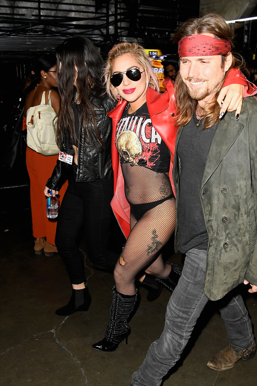 . LOS ANGELES, CA - FEBRUARY 12:  Singer Lady Gaga (C) attends The 59th GRAMMY Awards at STAPLES Center on February 12, 2017 in Los Angeles, California.  (Photo by Frazer Harrison/Getty Images for NARAS)