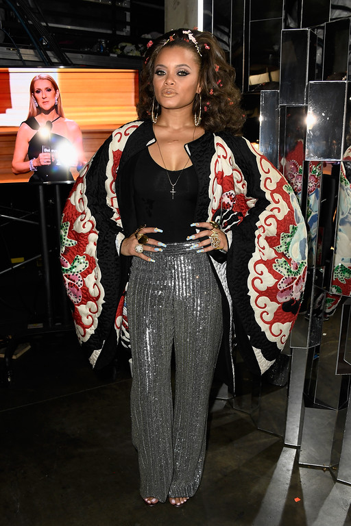 . LOS ANGELES, CA - FEBRUARY 12:  Singer Andra Day attends The 59th GRAMMY Awards at STAPLES Center on February 12, 2017 in Los Angeles, California.  (Photo by Frazer Harrison/Getty Images for NARAS)