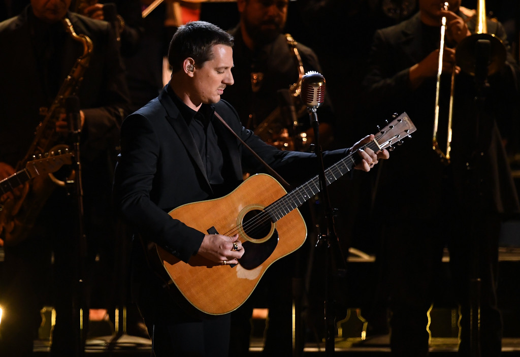 . LOS ANGELES, CA - FEBRUARY 12:  Recording artist Sturgill Simpson performs onstage during The 59th GRAMMY Awards at STAPLES Center on February 12, 2017 in Los Angeles, California.  (Photo by Kevin Winter/Getty Images for NARAS)