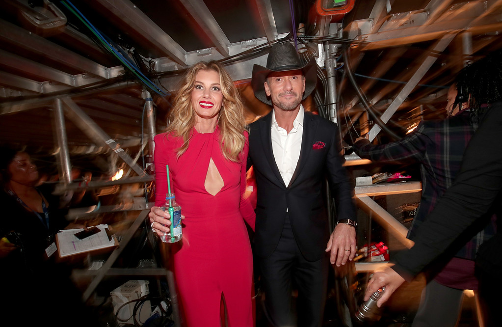 . LOS ANGELES, CA - FEBRUARY 12:  Singers Faith Hill and Tim McGraw attend The 59th GRAMMY Awards at STAPLES Center on February 12, 2017 in Los Angeles, California.  (Photo by Christopher Polk/Getty Images for NARAS)