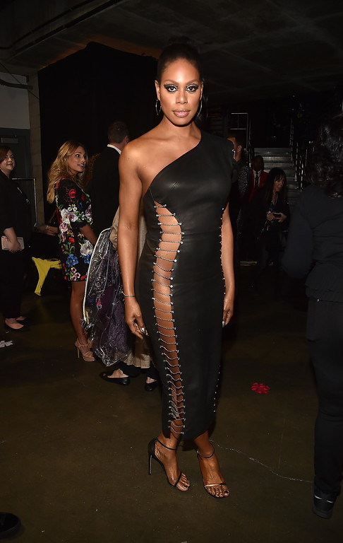 . LOS ANGELES, CA - FEBRUARY 12:  Actor Laverne Cox attends The 59th GRAMMY Awards at STAPLES Center on February 12, 2017 in Los Angeles, California.  (Photo by Alberto E. Rodriguez/Getty Images for NARAS)