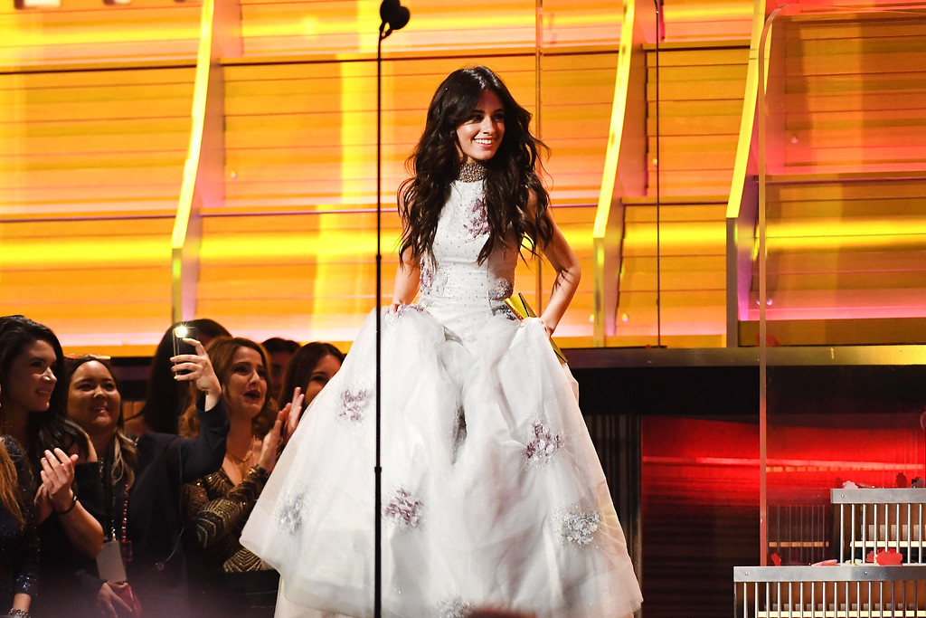 . LOS ANGELES, CA - FEBRUARY 12: Recording artist Camila Cabello onstage during The 59th GRAMMY Awards at STAPLES Center on February 12, 2017 in Los Angeles, California.  (Photo by Kevork Djansezian/Getty Images)