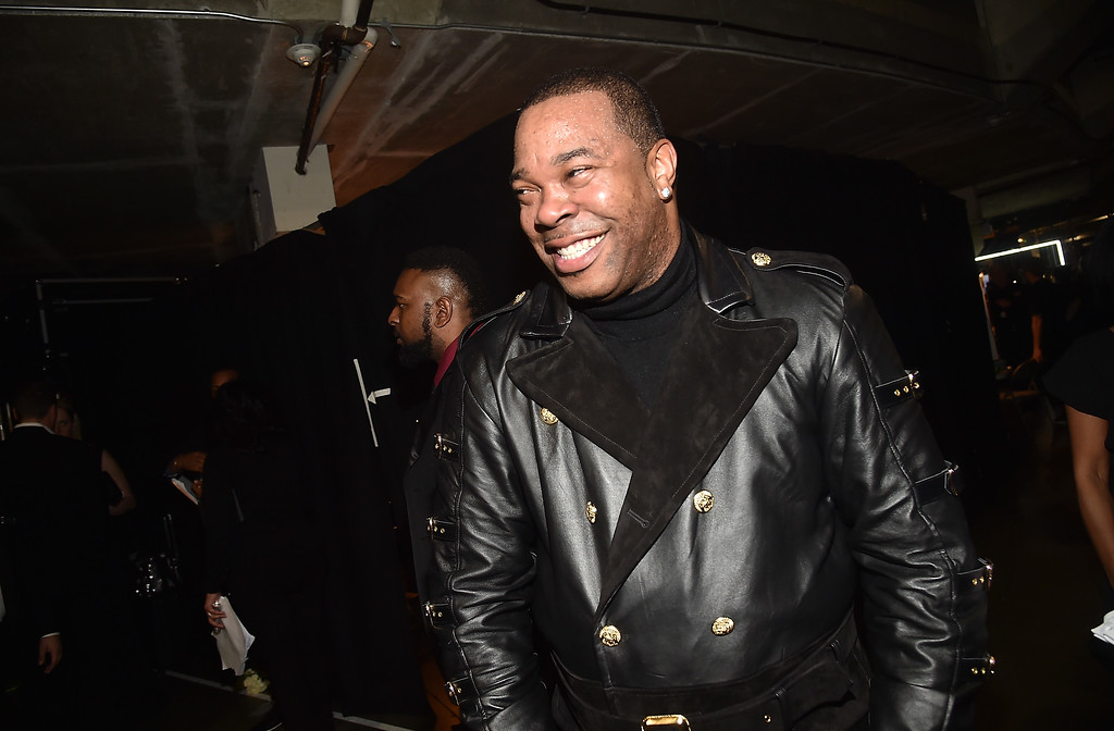 . LOS ANGELES, CA - FEBRUARY 12: Hip Hop Artist  Busta Rhymes attends The 59th GRAMMY Awards at STAPLES Center on February 12, 2017 in Los Angeles, California.  (Photo by Alberto E. Rodriguez/Getty Images for NARAS)