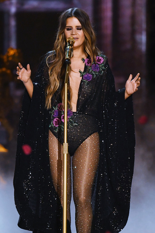 . LOS ANGELES, CA - FEBRUARY 12:  Recording artist Maren Morris performs onstage during The 59th GRAMMY Awards at STAPLES Center on February 12, 2017 in Los Angeles, California.  (Photo by Kevin Winter/Getty Images for NARAS)
