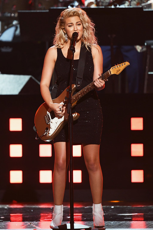 . LOS ANGELES, CA - FEBRUARY 12:  Recording artist Tori Kelly performs onstage during The 59th GRAMMY Awards at STAPLES Center on February 12, 2017 in Los Angeles, California.  (Photo by Kevin Winter/Getty Images for NARAS)