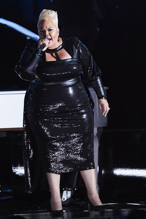 . LOS ANGELES, CA - FEBRUARY 12:  Recording artist Tamela Mann performs onstage during The 59th GRAMMY Awards at STAPLES Center on February 12, 2017 in Los Angeles, California.  (Photo by Kevin Winter/Getty Images for NARAS)