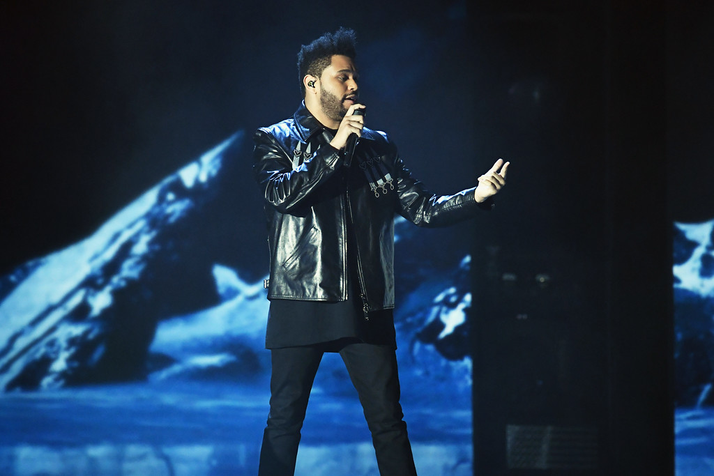 . LOS ANGELES, CA - FEBRUARY 12:  Recording artist The Weeknd performs onstage during The 59th GRAMMY Awards at STAPLES Center on February 12, 2017 in Los Angeles, California.  (Photo by Kevin Winter/Getty Images for NARAS)