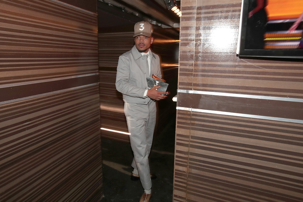. LOS ANGELES, CA - FEBRUARY 12:  Chance The Rapper backstage at The 59th GRAMMY Awards at STAPLES Center on February 12, 2017 in Los Angeles, California.  (Photo by Christopher Polk/Getty Images for NARAS)