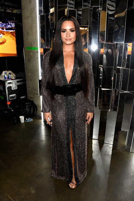 . LOS ANGELES, CA - FEBRUARY 12:  Singer Demi Lovato attends The 59th GRAMMY Awards at STAPLES Center on February 12, 2017 in Los Angeles, California.  (Photo by Frazer Harrison/Getty Images for NARAS)