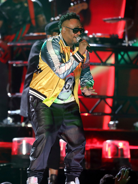 . Phife Dawg, from A Tribe Called Quest, performs at the 59th annual Grammy Awards on Sunday, Feb. 12, 2017, in Los Angeles. (Photo by Matt Sayles/Invision/AP)