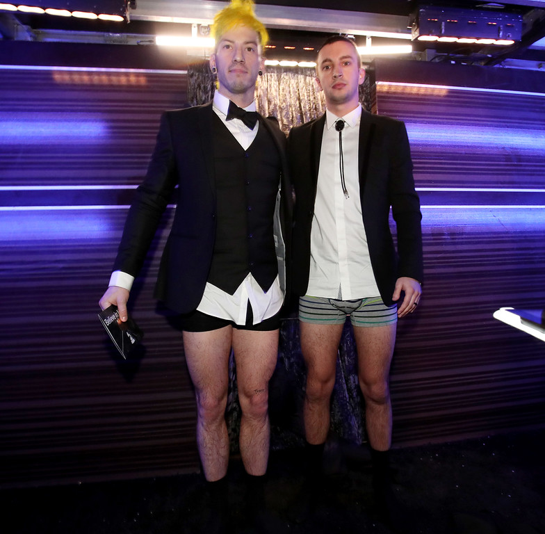 . LOS ANGELES, CA - FEBRUARY 12: Musicians Josh Dun and Tyler Joseph of Twenty One Pilots attend The 59th GRAMMY Awards at STAPLES Center on February 12, 2017 in Los Angeles, California.  (Photo by Christopher Polk/Getty Images for NARAS)