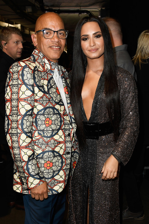 . LOS ANGELES, CA - FEBRUARY 12:  Musician Rickey Minor (L) and singer Demi Lovato attend The 59th GRAMMY Awards at STAPLES Center on February 12, 2017 in Los Angeles, California.  (Photo by Frazer Harrison/Getty Images for NARAS)