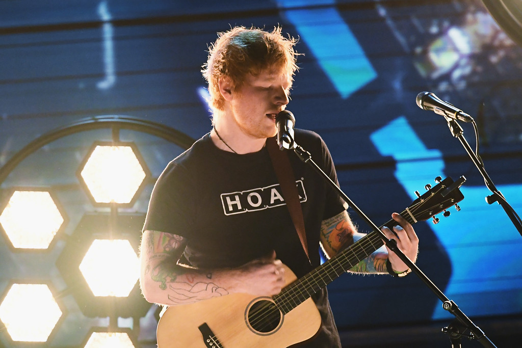 . LOS ANGELES, CA - FEBRUARY 12:  Recording artist Ed Sheeran performs onstage during The 59th GRAMMY Awards at STAPLES Center on February 12, 2017 in Los Angeles, California.  (Photo by Kevin Winter/Getty Images for NARAS)