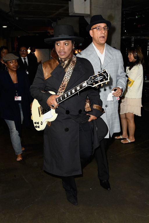. LOS ANGELES, CA - FEBRUARY 12:  Musician Jesse Johnson of The Time attends The 59th GRAMMY Awards at STAPLES Center on February 12, 2017 in Los Angeles, California.  (Photo by Frazer Harrison/Getty Images for NARAS)