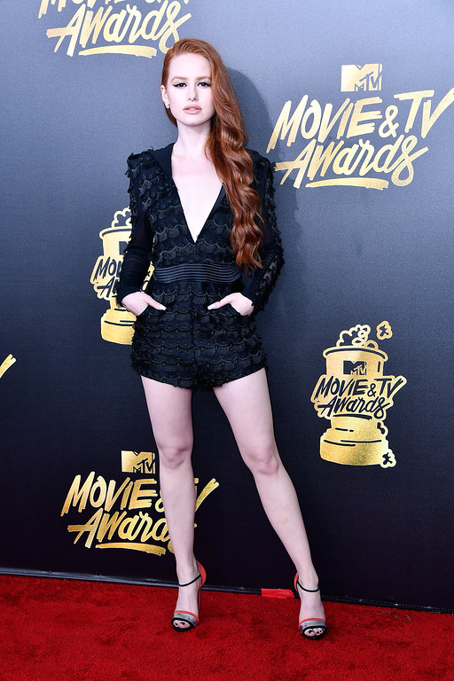. LOS ANGELES, CA - MAY 07:  Actor Madelaine Petsch attends the 2017 MTV Movie And TV Awards at The Shrine Auditorium on May 7, 2017 in Los Angeles, California.  (Photo by Frazer Harrison/Getty Images)