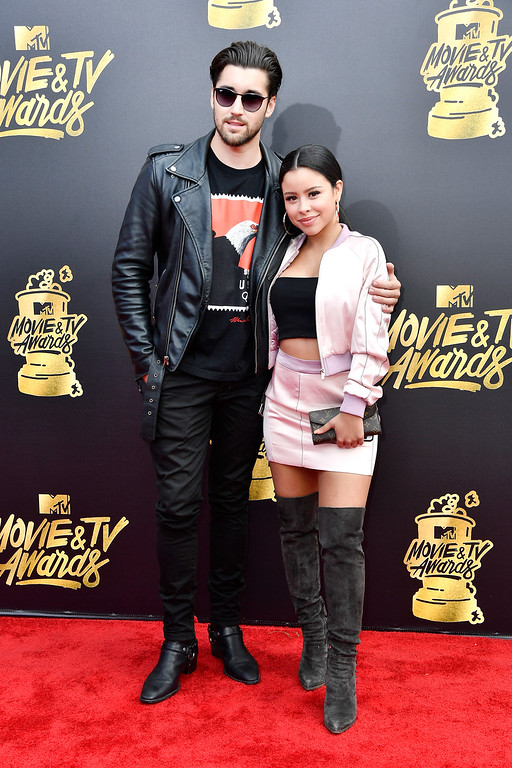 . LOS ANGELES, CA - MAY 07:  Actors Jeff Wittek (L) and Cierra Ramirez attend the 2017 MTV Movie And TV Awards at The Shrine Auditorium on May 7, 2017 in Los Angeles, California.  (Photo by Frazer Harrison/Getty Images)