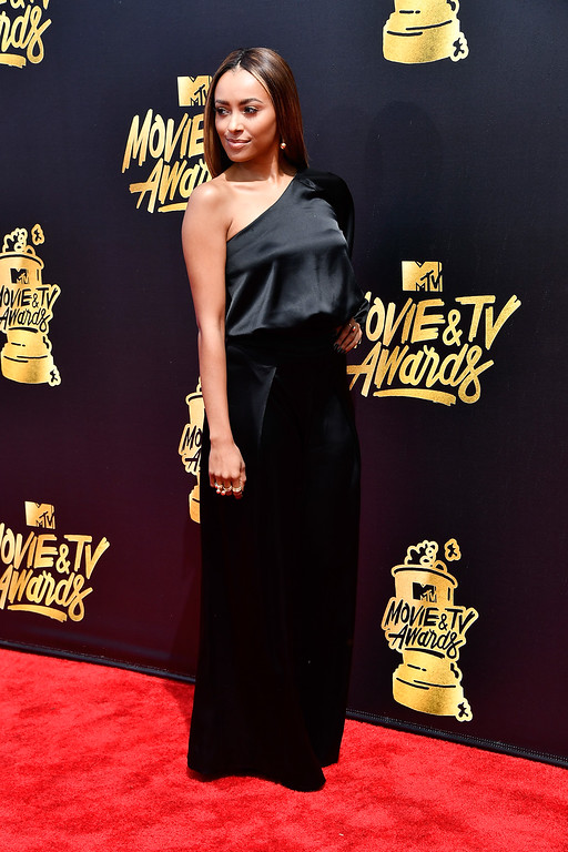 . LOS ANGELES, CA - MAY 07:  Actor Kat Graham attends the 2017 MTV Movie And TV Awards at The Shrine Auditorium on May 7, 2017 in Los Angeles, California.  (Photo by Frazer Harrison/Getty Images)