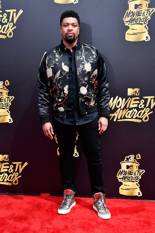 . LOS ANGELES, CA - MAY 07:  Actor DeRay Davis attends the 2017 MTV Movie And TV Awards at The Shrine Auditorium on May 7, 2017 in Los Angeles, California.  (Photo by Frazer Harrison/Getty Images)