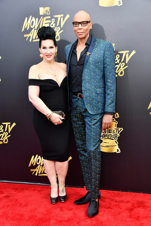 . LOS ANGELES, CA - MAY 07:  TV personalities Michelle Visage (L) and RuPaul attend the 2017 MTV Movie And TV Awards at The Shrine Auditorium on May 7, 2017 in Los Angeles, California.  (Photo by Frazer Harrison/Getty Images)