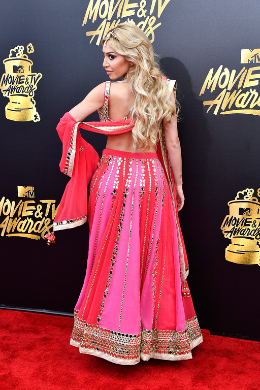 . LOS ANGELES, CA - MAY 07:  TV personality Farrah Abraham attends the 2017 MTV Movie And TV Awards at The Shrine Auditorium on May 7, 2017 in Los Angeles, California.  (Photo by Frazer Harrison/Getty Images)