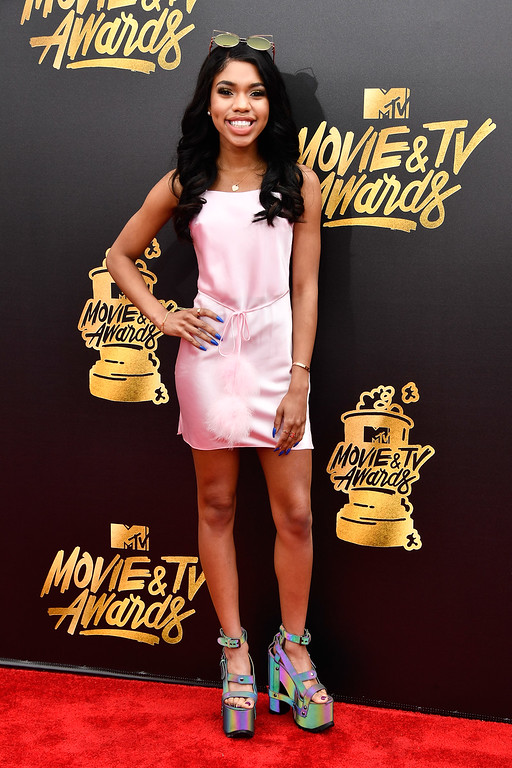 . LOS ANGELES, CA - MAY 07:  Actor Teala Dunn attends the 2017 MTV Movie And TV Awards at The Shrine Auditorium on May 7, 2017 in Los Angeles, California.  (Photo by Frazer Harrison/Getty Images)