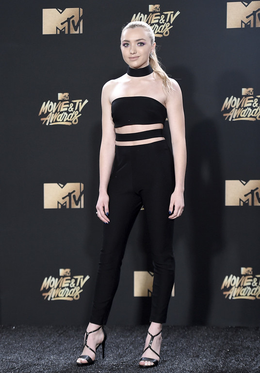 . Peyton List arrives at the MTV Movie and TV Awards at the Shrine Auditorium on Sunday, May 7, 2017, in Los Angeles. (Photo by Richard Shotwell/Invision/AP)