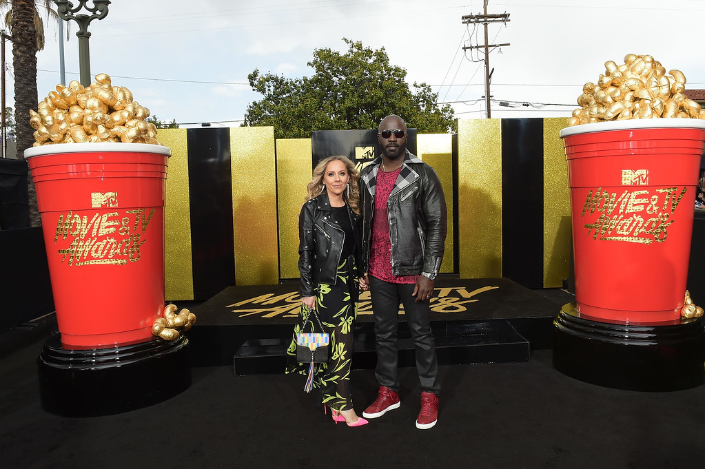 . LOS ANGELES, CA - MAY 07:  Iva Colter (L) and actor Mike Colter attend the 2017 MTV Movie And TV Awards at The Shrine Auditorium on May 7, 2017 in Los Angeles, California.  (Photo by Matt Winkelmeyer/Getty Images)