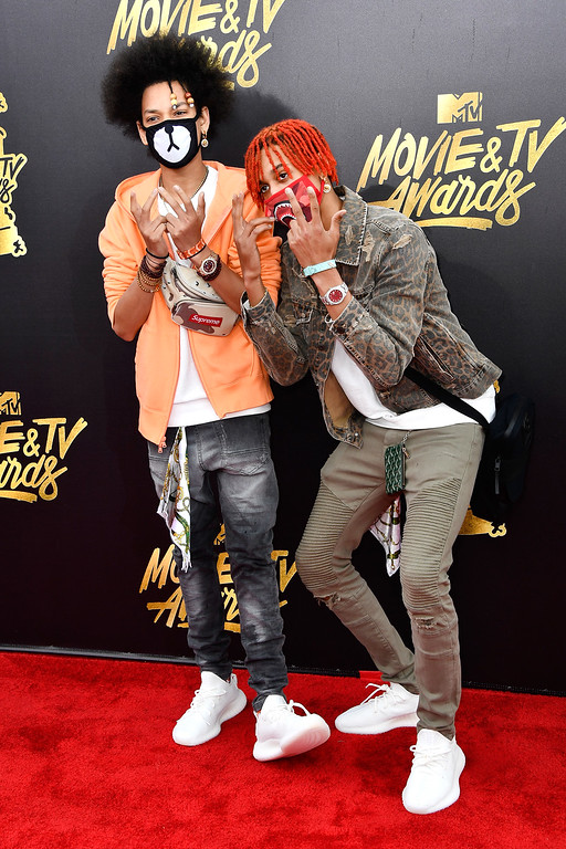 . LOS ANGELES, CA - MAY 07:  Recording artists Ayo & Teo attend the 2017 MTV Movie And TV Awards at The Shrine Auditorium on May 7, 2017 in Los Angeles, California.  (Photo by Frazer Harrison/Getty Images)