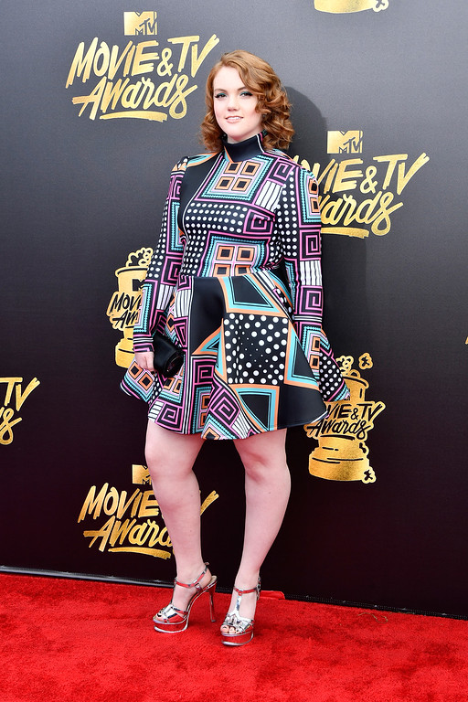 . LOS ANGELES, CA - MAY 07:  Actor Shannon Purser attends the 2017 MTV Movie And TV Awards at The Shrine Auditorium on May 7, 2017 in Los Angeles, California.  (Photo by Frazer Harrison/Getty Images)