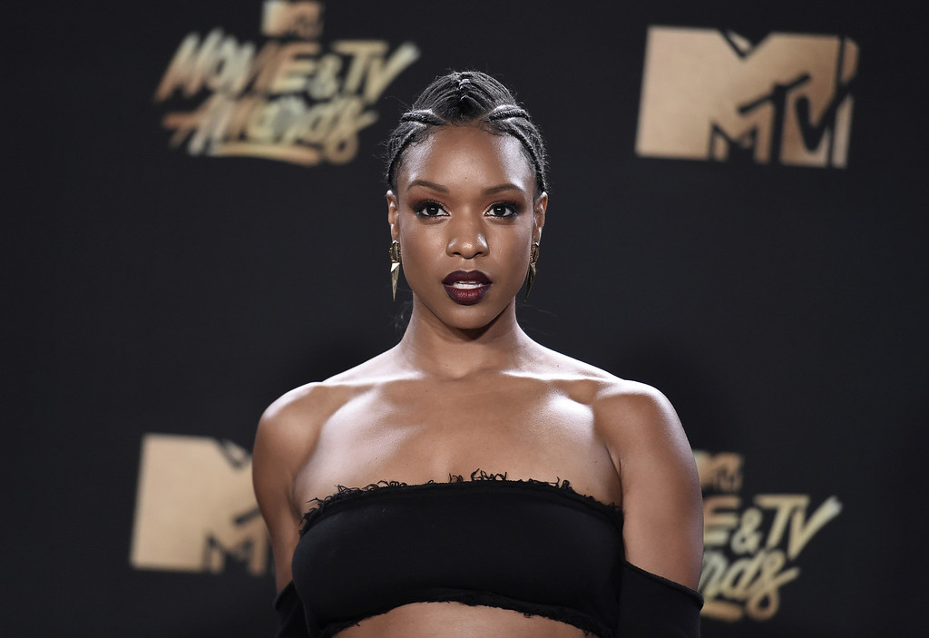 . Michelle Mitchenor arrives at the MTV Movie and TV Awards at the Shrine Auditorium on Sunday, May 7, 2017, in Los Angeles. (Photo by Richard Shotwell/Invision/AP)