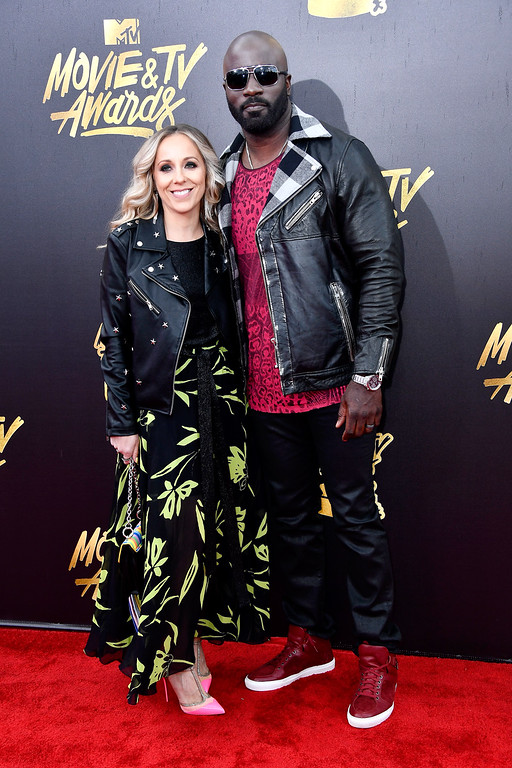 . LOS ANGELES, CA - MAY 07:  Iva Colter (L) and actor Mike Colter attend the 2017 MTV Movie And TV Awards at The Shrine Auditorium on May 7, 2017 in Los Angeles, California.  (Photo by Frazer Harrison/Getty Images)