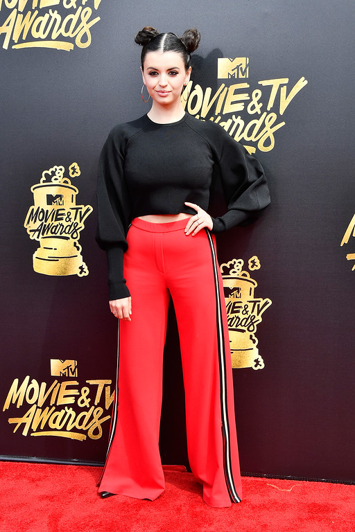 . LOS ANGELES, CA - MAY 07:  Singer Rebecca Black attends the 2017 MTV Movie And TV Awards at The Shrine Auditorium on May 7, 2017 in Los Angeles, California.  (Photo by Frazer Harrison/Getty Images)