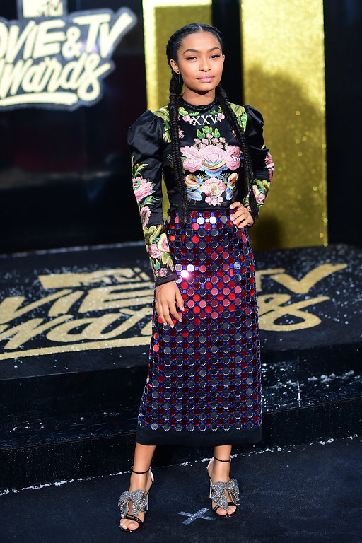 . LOS ANGELES, CA - MAY 07:  Actor Yara Shahidi  attends the 2017 MTV Movie And TV Awards at The Shrine Auditorium on May 7, 2017 in Los Angeles, California.  (Photo by Matt Winkelmeyer/Getty Images)