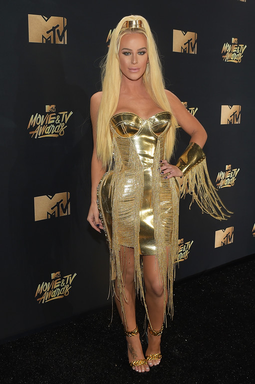 . LOS ANGELES, CA - MAY 07:  Model Gigi Gorgeous attends the 2017 MTV Movie And TV Awards at The Shrine Auditorium on May 7, 2017 in Los Angeles, California.  (Photo by Matt Winkelmeyer/Getty Images)