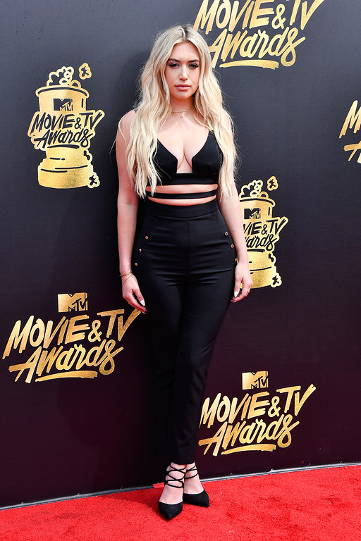 . LOS ANGELES, CA - MAY 07:  Anastasia Karanikolaou attends the 2017 MTV Movie And TV Awards at The Shrine Auditorium on May 7, 2017 in Los Angeles, California.  (Photo by Frazer Harrison/Getty Images)