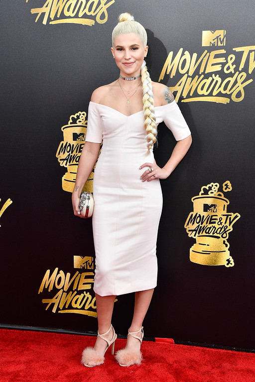 . LOS ANGELES, CA - MAY 07:  Comedian Carly Aquilino attends the 2017 MTV Movie And TV Awards at The Shrine Auditorium on May 7, 2017 in Los Angeles, California.  (Photo by Frazer Harrison/Getty Images)