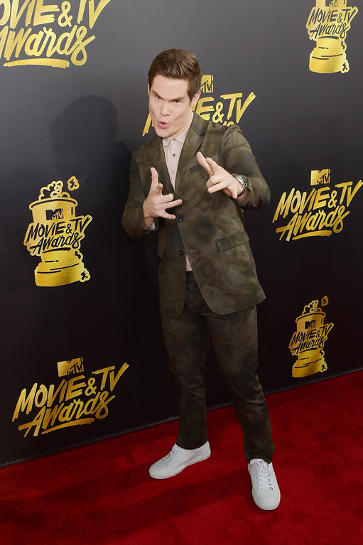 . LOS ANGELES, CA - MAY 07:  Host Adam DeVine attends the 2017 MTV Movie And TV Awards at The Shrine Auditorium on May 7, 2017 in Los Angeles, California.  (Photo by Matt Winkelmeyer/Getty Images)