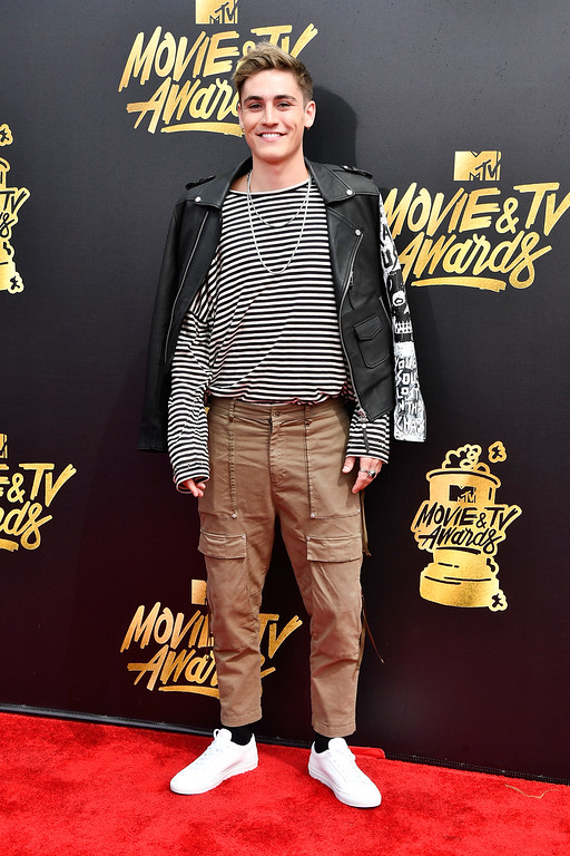 . LOS ANGELES, CA - MAY 07:  Singer Sammy Wilk attends the 2017 MTV Movie And TV Awards at The Shrine Auditorium on May 7, 2017 in Los Angeles, California.  (Photo by Frazer Harrison/Getty Images)