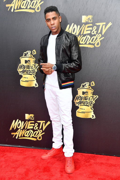 . LOS ANGELES, CA - MAY 07:  Actor Jharrel Jerome attends the 2017 MTV Movie And TV Awards at The Shrine Auditorium on May 7, 2017 in Los Angeles, California.  (Photo by Frazer Harrison/Getty Images)