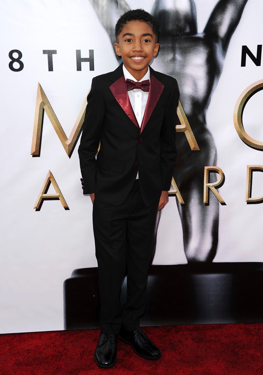 . Miles Brown arrives at the 48th annual NAACP Image Awards at the Pasadena Civic Auditorium on Saturday, Feb. 11, 2017, in Pasadena, Calif. (Photo by Richard Shotwell/Invision/AP)