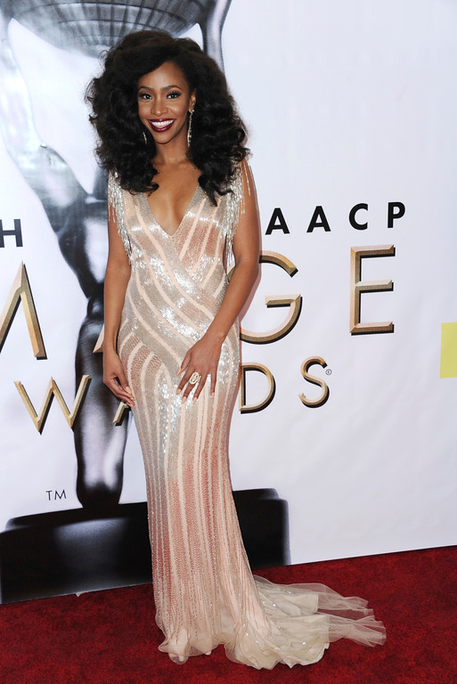 . Teyonah Parris arrives at the 48th annual NAACP Image Awards at the Pasadena Civic Auditorium on Saturday, Feb. 11, 2017, in Pasadena, Calif. (Photo by Richard Shotwell/Invision/AP)